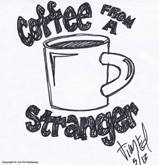 Coffee From A Stranger Original Logo Concept Sketch